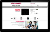 Access the Brandt website